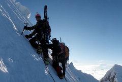 Ski mountaineering in Peru: Kyle Davis and Chris Erickson.