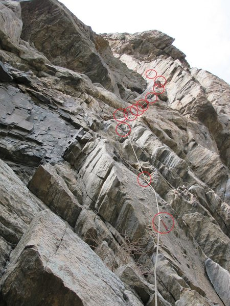 Rock Climbing Photo: Bolts! Lots of bolts! It seems to me like the rece...