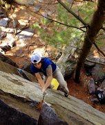 Rock Climbing Photo: Ryan getting the good jams on Anarchist Crack.