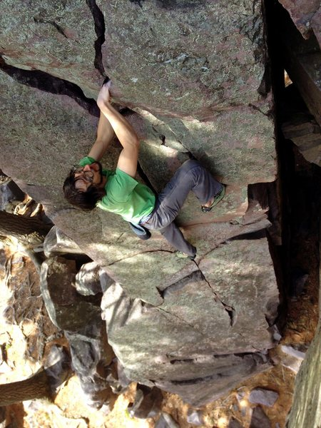 Andrew digging the good jams on Barefoot Crack.