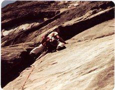 Rock Climbing Photo: Bo Terry beginning pitch 3 1982.