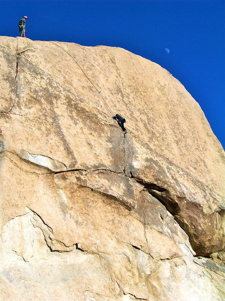 Rock Climbing Photo: Bonnie following Sidewinder