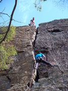Rock Climbing Photo: Ethan G. about to get a taste of Vector