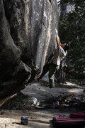 Rock Climbing Photo: Scott Sanchez bouldering at the Tram