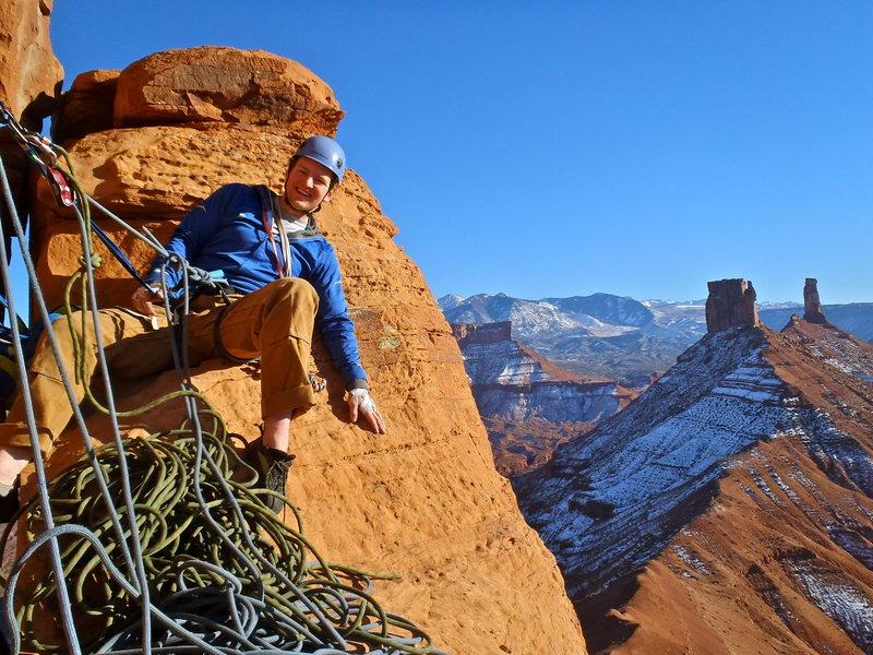 Rock Climbing Photo: Rope management...