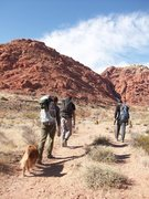 Rock Climbing Photo: Approach.  Calico Basin.