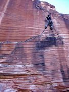 Rock Climbing Photo: Yin Yang Cliff, Calico Basin.  Red Rock.  Flash.