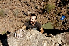 Rock Climbing Photo: Finishing a great problem. The first time I did th...