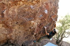 Rock Climbing Photo: 2 of 3. ...to the nice round hold.. Photo: Kreidel...