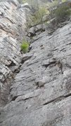 Rock Climbing Photo: Middle of the first pitch of the Updraft corner. T...