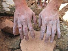 Rock Climbing Photo: man hands