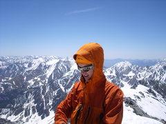 Rock Climbing Photo: Kyle T atop Mt. Borah after climbing the N. Face (...