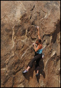 Rock Climbing Photo: Amy Jo  Ness bouldering at Alabama Hills. Photo by...