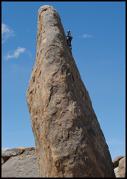 Amy Ness on East Face.<br> Photo by Blitzo.