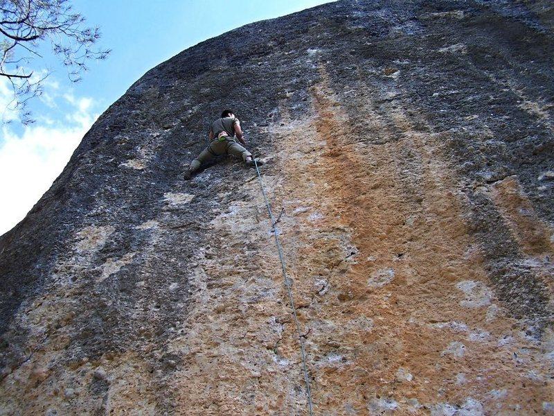 Rock Climbing Photo: fun pocket pulling on Pitus i Flautes
