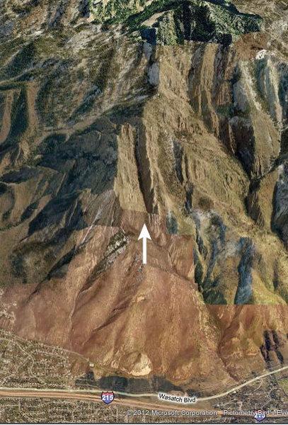 Rock Climbing Photo: Couloir next to Guert's Ridge