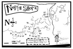 Rock Climbing Photo: Eric Zschiesche's North Shore map from Rock and Ic...