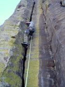 Rock Climbing Photo: Reggie in the maw of the beast.