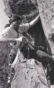 Rock Climbing Photo: Paul Davidson on the first lead ascent of Retireme...