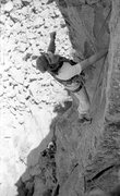 Rock Climbing Photo: Steve Grossman on an early repeat of Canary Crack