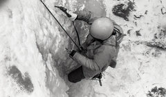 Rock Climbing Photo: Phil Condrey climbing ice in Uptown Mt Elden- late...