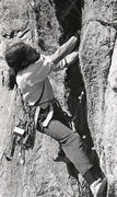 Rock Climbing Photo: Paul Davidson on the first lead of Retirement Crac...
