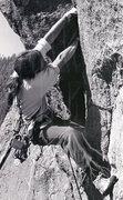Rock Climbing Photo: P. Davidson gunning through on the FA of Retiremen...