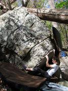"Rock Climbing Photo: Sarene on the start to ""Planetarium"", on..."