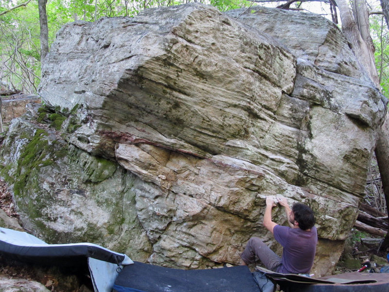 """Rock Climbing Photo: Jonathan on the start to """"Physical Therapy&qu..."""