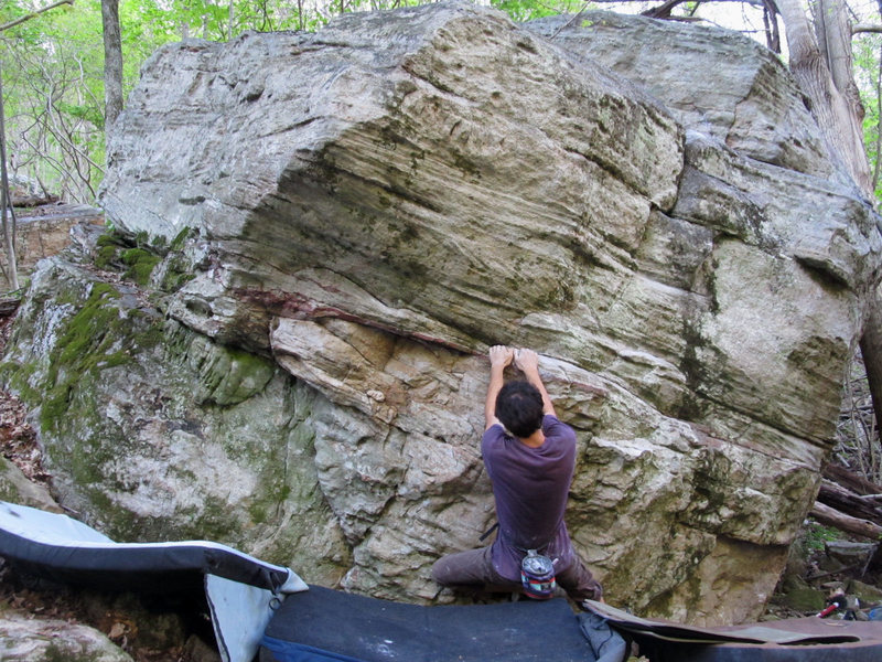 "Rock Climbing Photo: Jonathan ""Physical Therapy"" on the Contr..."