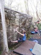 "Rock Climbing Photo: Kat on the start to ""Black Magic"""