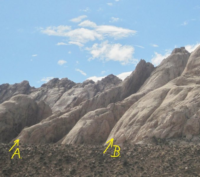 A) The Peuterey Ridge. 5.7 B)Its only Rock and Roll.5.9
