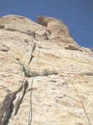 Rock Climbing Photo: Paul top of P1
