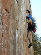 Rock Climbing Photo: Red Wall   Fashion (5.12b) sport  Crowders Mountai...