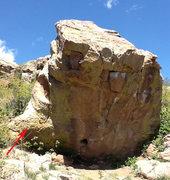 Rock Climbing Photo: Scenic Rock, West Bulge indicated.