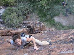Rock Climbing Photo: Stef Climbing Gospel Express, Montagu, South Afric...
