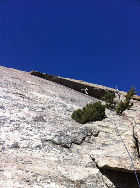 Rock Climbing Photo: Pitch 1, traverse.