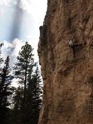 Rock Climbing Photo: Jeremiah inhaling