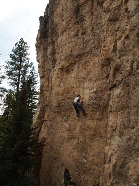 Rock Climbing Photo: Jeremiah pullin down
