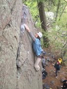 Rock Climbing Photo: Strong firing the crux of Mother and Apple Pie!