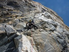 Rock Climbing Photo: Starting up the Black Face, June 2011 (who brings ...