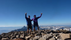 Rock Climbing Photo: Summit of Moran after blitzing the CMC route in 4....