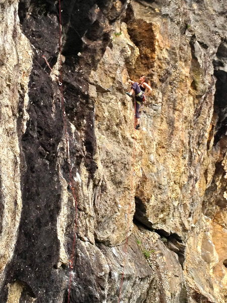 Rock Climbing Photo: Jess on the awesome handcrack of buried treasure. ...