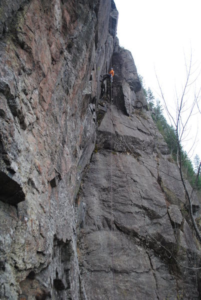 Rock Climbing Photo: 70m rappel down from Final Frontier.