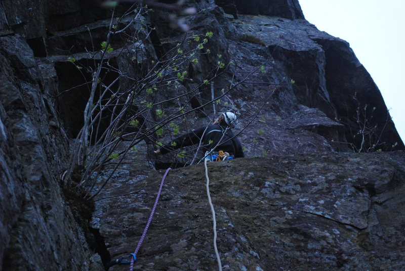 Rock Climbing Photo: Heading up P1