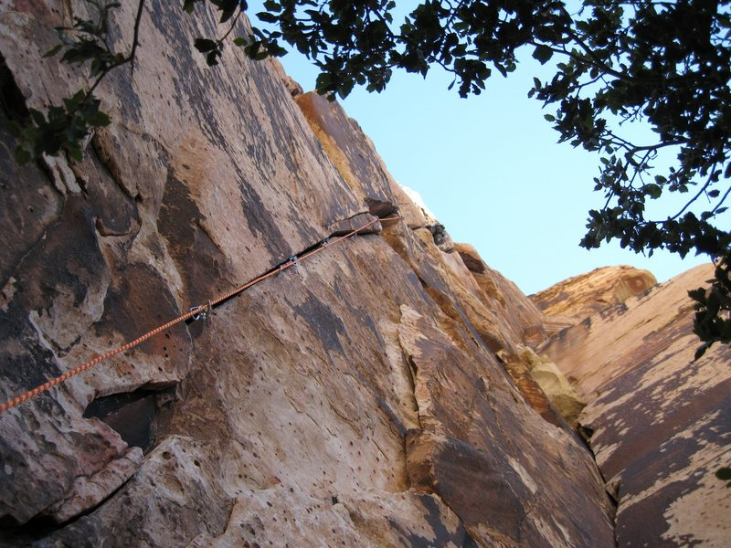 Rock Climbing Photo: Joe Lee on route