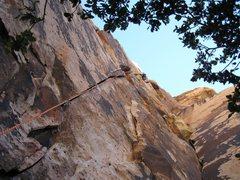 Rock Climbing Photo: Joe Lee on route