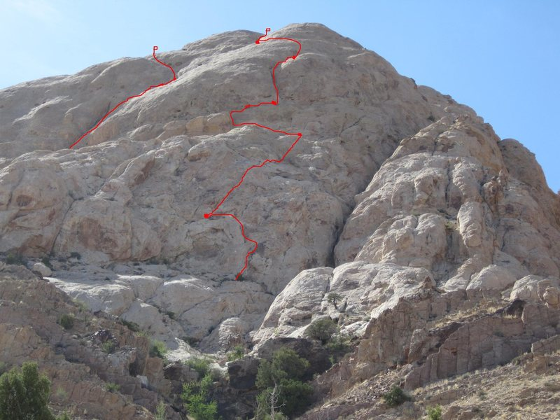 Rock Climbing Photo: Second Time's the Charm on the right. Top two pitc...