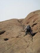 Rock Climbing Photo: Starting the groove on P4.