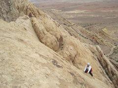 Rock Climbing Photo: Near the top of P5.